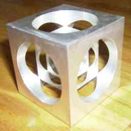 Here is a cube manufactured from metal, in similar likeness to Time Cube